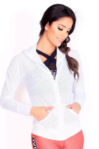 Superdry White Mesh Sport Jacket