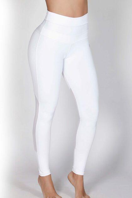 High Waist White Gym Leggings