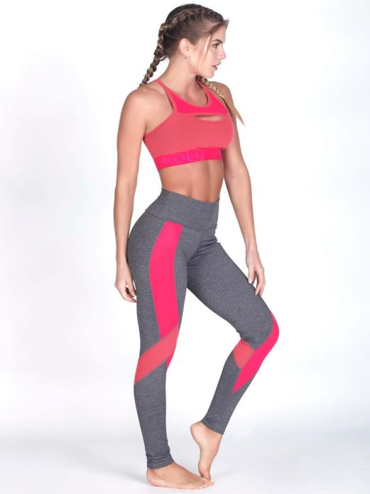 Coral Gym Leggings