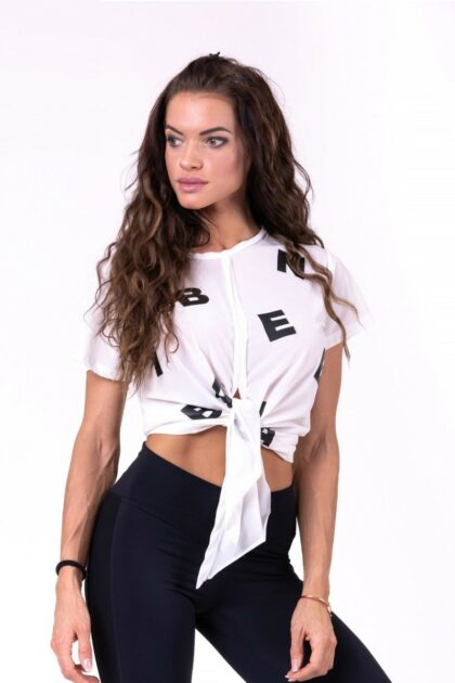 White Tied Knot Letters T-shirt