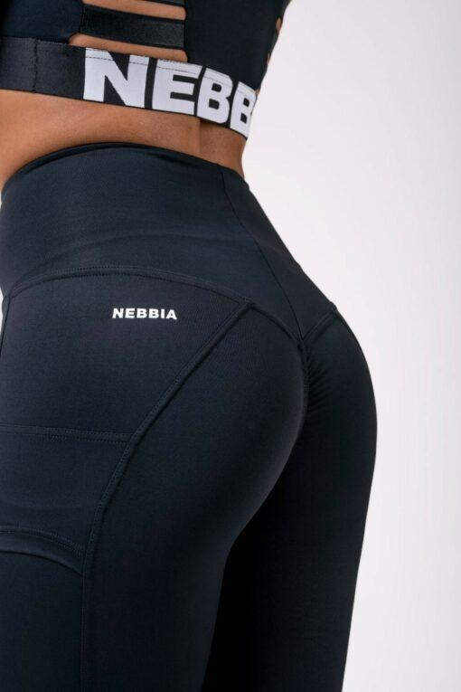 Black High Waist Nebbia Logo Leggings