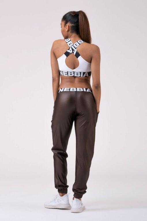 Metallic Look Brown Pants