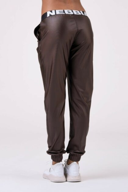Nebbia Brown Sports Drop Crotch Pants