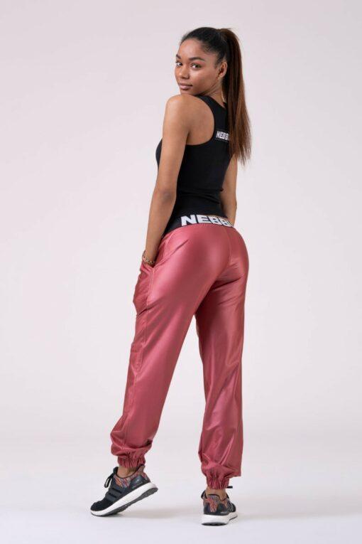 Peach Satin Look Pants