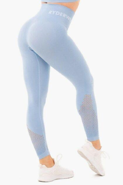 Blue High Waisted Leggings