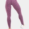 High Waist Purple Leopard Print Leggings