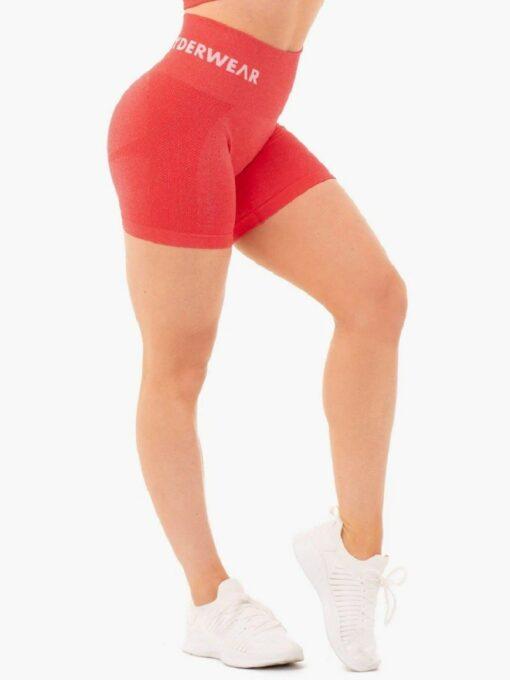 High Waist Red Shorts