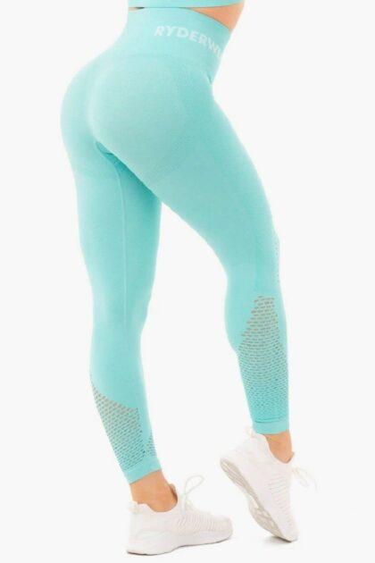 High Waisted Blue Leggings