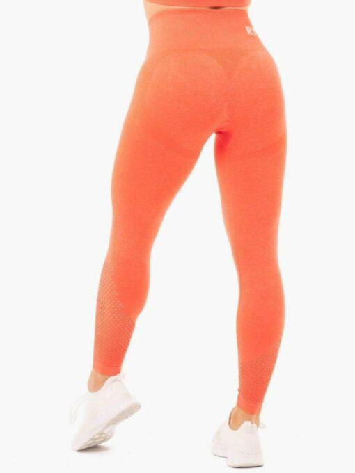 High Waisted Orange Leggings
