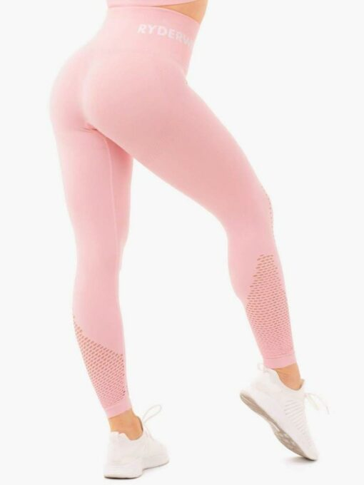 High Waisted Pink Leggings