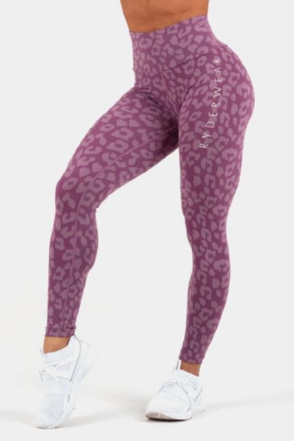 Instinct Purple Leopard Print Leggings