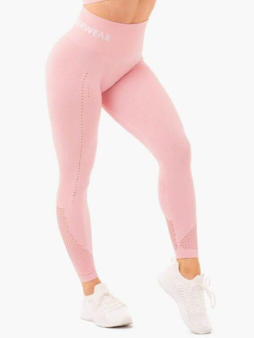 Seamless High Waist Pink Leggings