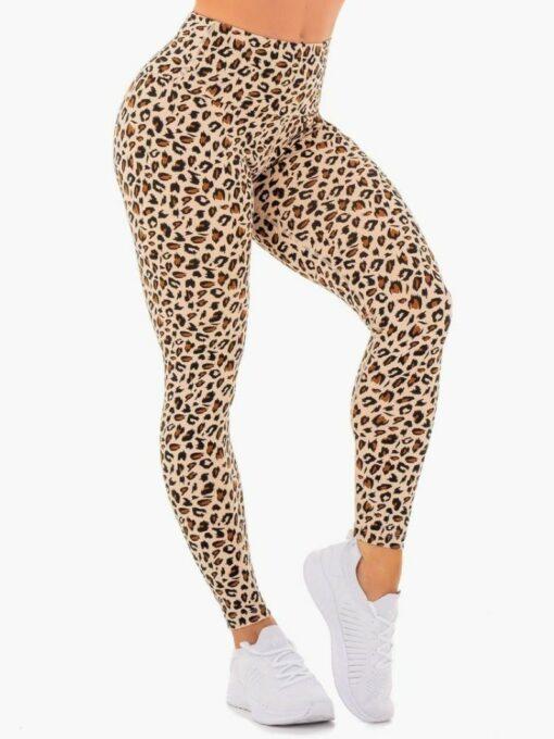 High Waisted Leopard-Printed Leggings
