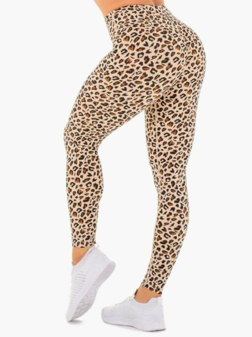 High Wasited Leopard Print Workout Leggings
